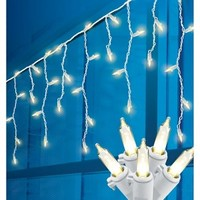 Philips 70ct Warm White LED Icicle Mini String Lights