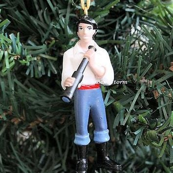 Licensed cool CUSTOM Disney Little Mermaid PRINCE ERIC Christmas Ornament PVC ARIEL BOYFRIEND