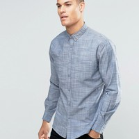 Sliver Eight Plain Grey Flannel Shirt in Slim Fit at asos.com