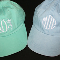 Monogrammed Baseball Cap - Personalized with Monogram - Choose from 20 Colors