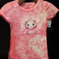 Wizarding World Harry Potter Pink Pygmy Puff Face Girls TShirt Diagon Alley NEW