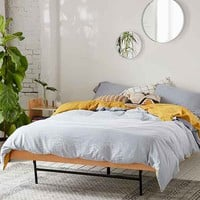 Reversible Linen Blend Duvet Cover