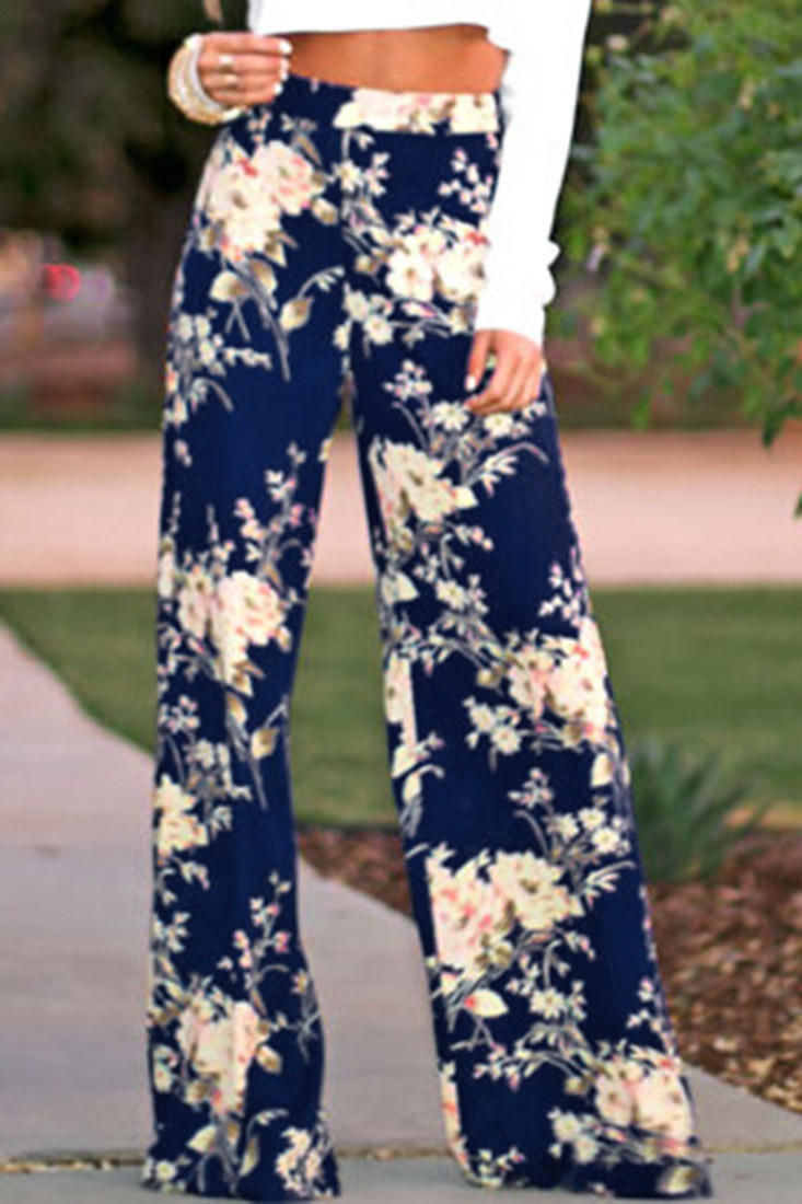 df430a9339 Floral Print Wide Leg Pants from Opal Apparel