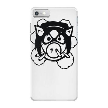 pig wheels angry iPhone 7 Case