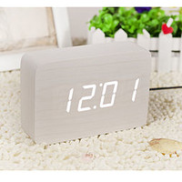 LED Brick White Click Clock