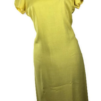 Vintage Jacobsen Canary Yellow Dress with Jacket