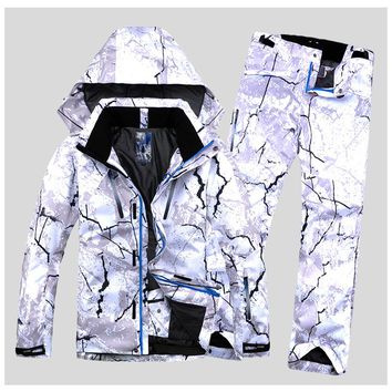 New Style Men Ski Suit Super Warm Clothing Skiing Snowboard Jacket+Pants Suit Set Windproof Waterproof Winter Outdoor Sport Wear