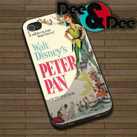 Peter Pan Walt Disney Classic for iPhone 4/4S, 5/5S, 5C - Samsung Galaxy S3, S4 Rubber Case and Plastic Case