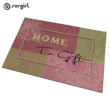 Autumn Fall welcome door mat doormat Welcome Home to gift Conch  Front  Carpet Entrance Indoor eco-friendly natural Non-slip Floor Mat living room Rug AT_76_7