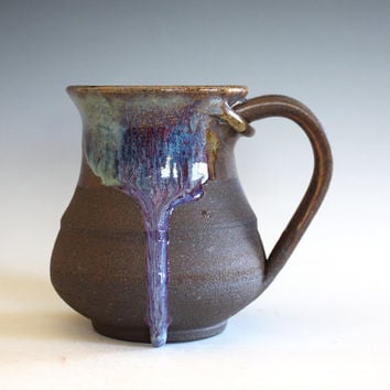 DISCOUNTED Coffee Mug, 13 oz, handmade ceramic cup, handthrown mug, ceramic stoneware pottery mug unique coffee mug ceramics and pottery