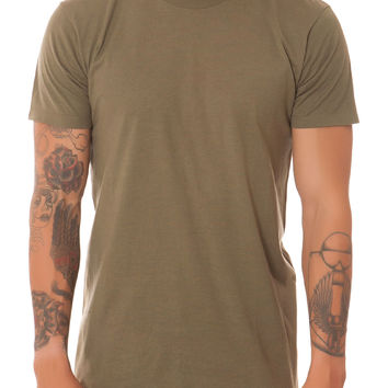 The Military Green Essential Tee in Military Green