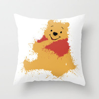 Winnie The Pooh Throw Pillow by DanielBergerDesign
