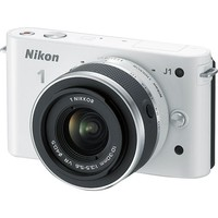 Nikon - 1 J1 10.1-Megapixel Digital Camera with 10-30mm Kit - White