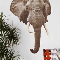 Walls Need Love Elephant Mount Wall Decal- Grey One
