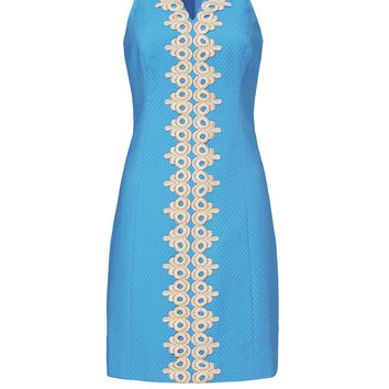 Lilly Pulitzer Pearl Blue and Gold Shift