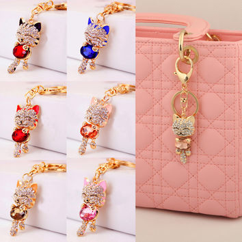 Lnrrabc Trendy Rhinestone Gold Plated For Women Bag Charm