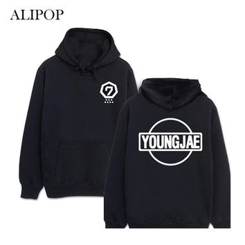ALIPOP KPOP GOT7 Winter Album Fleece Hoodie K-POP Casual Cotton Hoodies Clothes Pullover Printed Long Sleeve Sweatshirts WY364