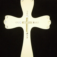 WHITE & BLING Wall Cross