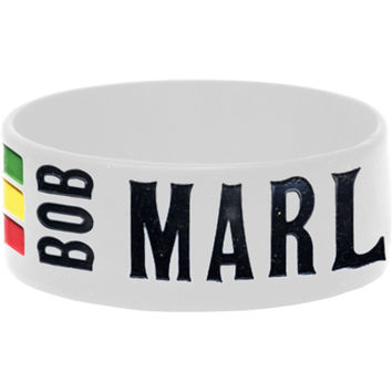Bob Marley Men's One Love Rubber Bracelet White