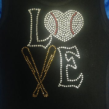 Love Baseball Tank/Shirt/Sweatshirt