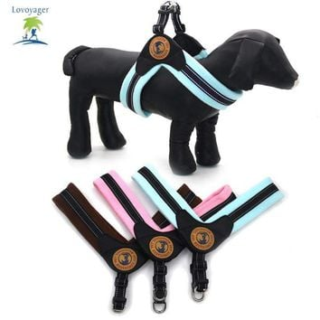 Lovoyager pet accessories Soft warm fleece winter dog vest pink blue brown reflective small medium large no pull dog harness