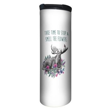 Boho Moose Barista Tumbler Travel Mug - 17 Ounce, Spill Resistant, Stainless Steel & Vacuum Insulated