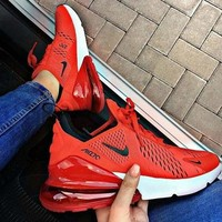 Nike Air Max 270 New fashion mesh sneaker sports leisure couple shoes Red