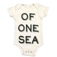 White One Piece with Typography Print in Black
