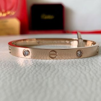 Cartier love bracelet rose gold size 17cm extremely magnificent