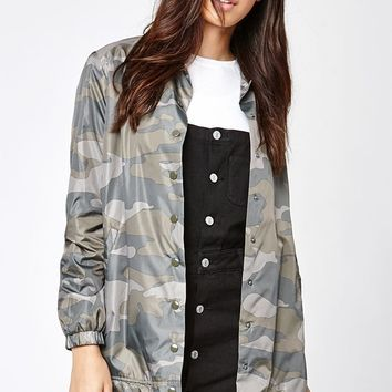 LA Hearts Extra Long Coach Jacket at PacSun.com