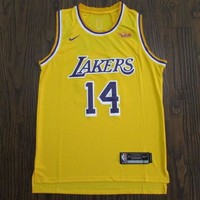 Men's Los Angeles Lakers #14 Brandon Ingram Icon Edition Gold Jerseys - Best Deal Online