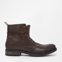 ASOS Workboots in Brown Leather