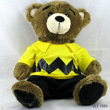 Build A Bear Bearemy Teddy Bear in Charlie Brown Peanuts Charater Outfit