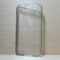 For Samsung Galaxy S5 Grey Silicone Bumper and Clear Hard Acrylic Case