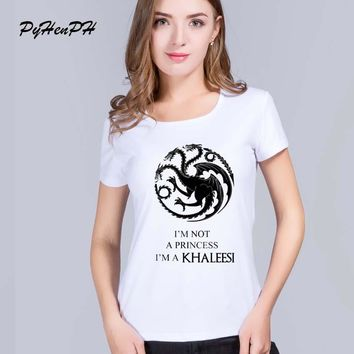 The Mother of Dragons Printed women tee tops Blusa lady t-shirts