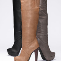 Platform Slouch Boot