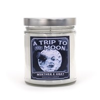 A TRIP To THE MOON, Scented Candle, Georges Méliès, Early Film, White Amber, Tobacco, Blueberry, Celestial, Man in the Moon, History, Lunar