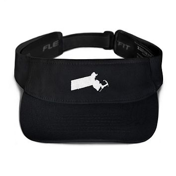 Massachusetts Embroidered State Shape Visor
