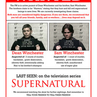 "Supernatural - US TV Show Season Art Fabric poster   17"" x 13""  Decor"