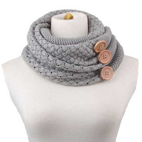 Cupshe Young Lady Crochet Knitting Scarf
