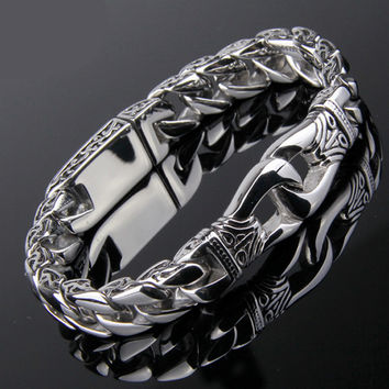 Stainless Steel Men's Ancient Vintage Bracelet