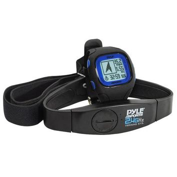GPS Watch w/ Coded Heart Rate Transmission, Navigation, Speed, Distance, Workout Memory, Compass, PC link (Black Color)