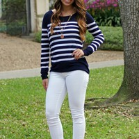 Sail Away Stripe Sweater