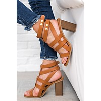 Nothin' On You Strappy Heels (Cognac)