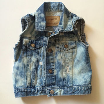 The Lavish Vest - MADE TO ORDER - baby Denim Vest - baby jean vest - baby photo shoot - kids first day of school outfit - hip kids clothes