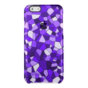 Deep Violet Purple Mosaic Monochrome Pattern Uncommon Clearly™ Deflector iPhone 6 Case