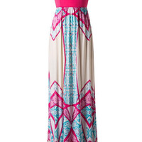 Splash of Aqua Maxi Dress