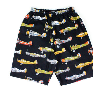 Boy's Vintage Airplanes Shorts