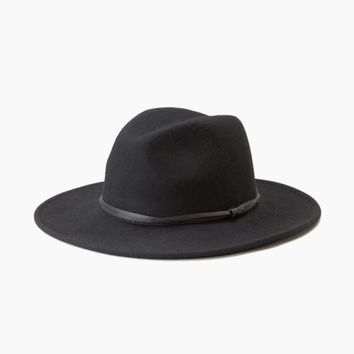 Connor Felt Hat - Black