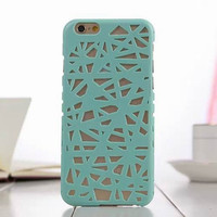 Green Candy Color Hollow Out Bird's Nest Phone Back Cover Case Shell For iPhone 4s 5 5s SE 6 6s